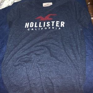 Hollister short sleeve navy shirt